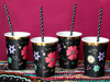 Picture of Paper cups - Floral Halloween