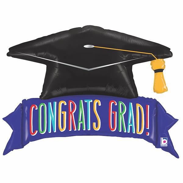 Picture of Foil balloon - Graduation hat