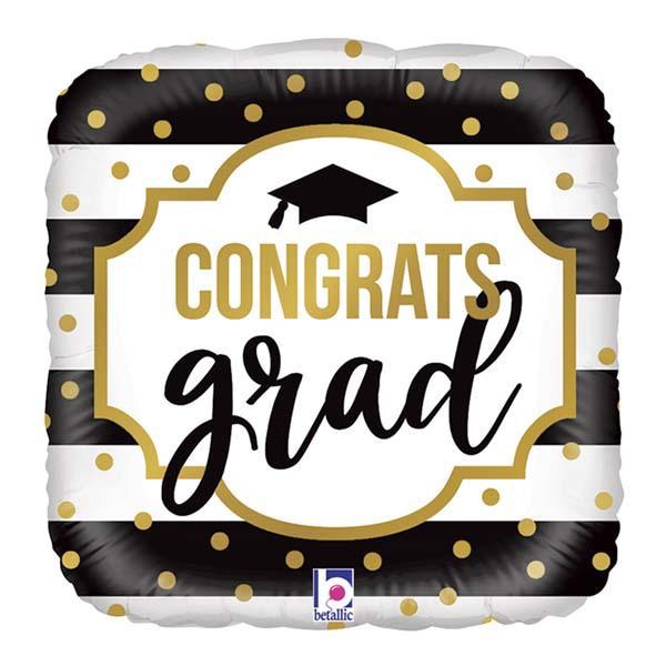 Μπαλόνι foil - Congrats grad τετράγωνο