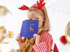 Χριστουγεννιάτικη κάρτα ευχών με καρφίτσα ελαφάκι