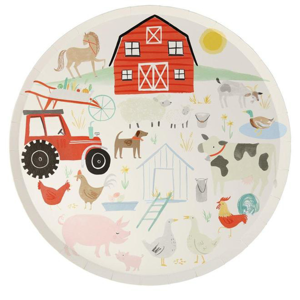 Picture of Dinner paper plates - Farm