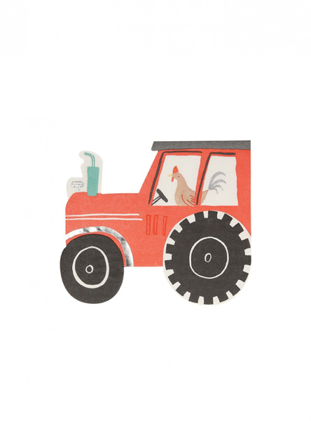 Picture of Paper napkins - Tractor