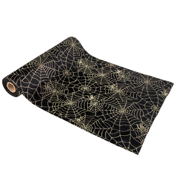 Picture of Velvet Table Runner - Spiderwebs
