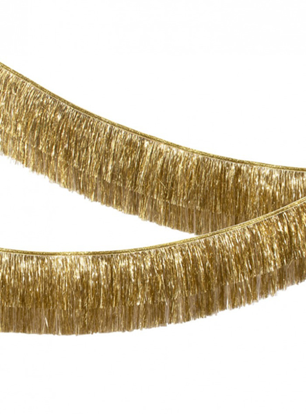Picture of Gold tinsel fringe garland