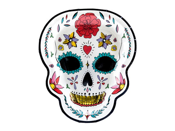 Picture of Paper plates - Skull