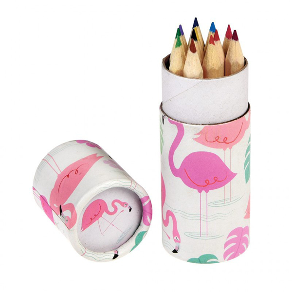 Picture of Set of 12 coloured pencils - Flamingo