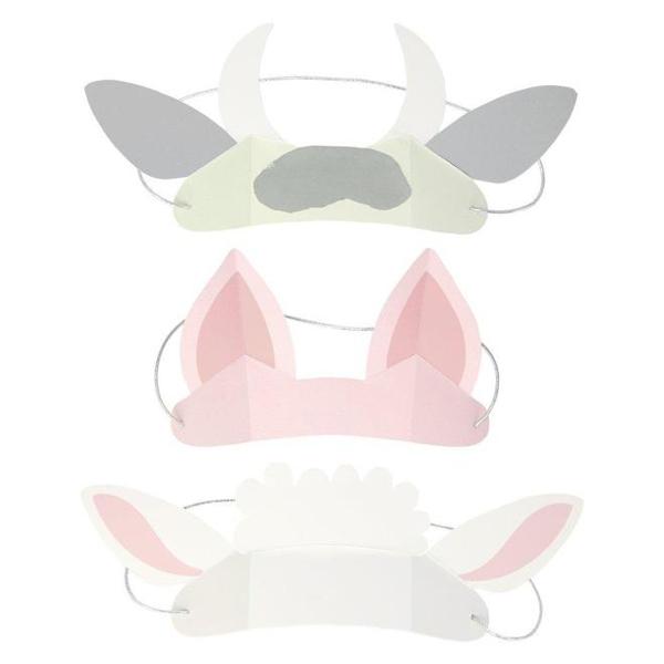 Καπελάκια - Αυτάκια ζώων (8τμχ)