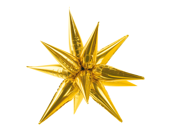 Picture of Foil balloon star 3D - Gold (95cm)