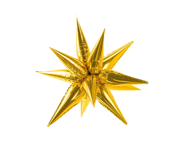 Picture of Foil balloon star 3D - Gold (70cm)