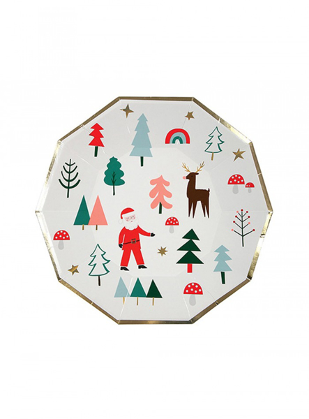 Picture of Dinner paper plates - Christmas party