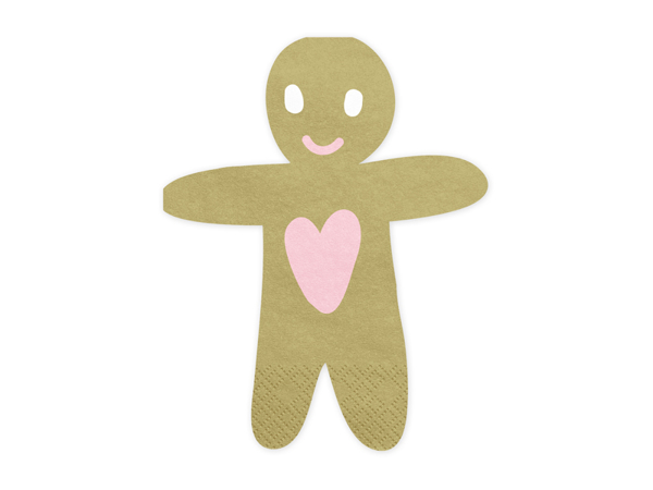 Picture of Paper napkins - Gingerbread man