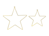 Picture of Metal hanging decorations  - Stars (2pcs)