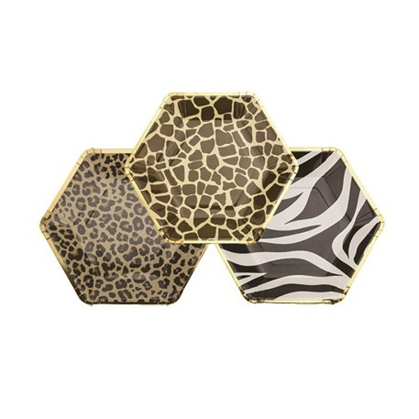 Picture of Dinner paper plates - Animal print