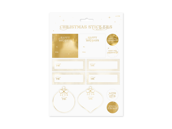 Picture of Christmas Stickers - Gold