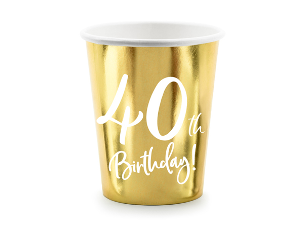 Picture of Paper cups - 40th Birthday!