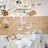 Picture of Sparkling  gold glitter table runner