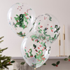 Picture of Christmas Holly and Berries Confetti Filled Balloons