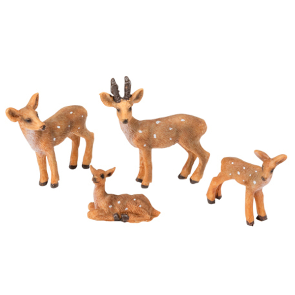 Picture of Decorative figures - Deer (4pcs)