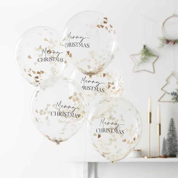 Picture of Merry Christmas Confetti Filled Balloons