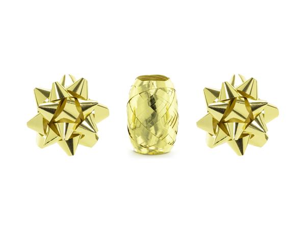 Σετ κορδέλα και 2 ροζέτες χρυσό