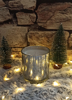 Picture of Scented soy candle in silver glass -Cayenne pepper