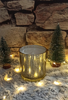 Picture of Scented soy candle in gold glass -Vanilla Cinnamon