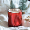 Picture of Scented soy candle in red glass - Whiskey caramel