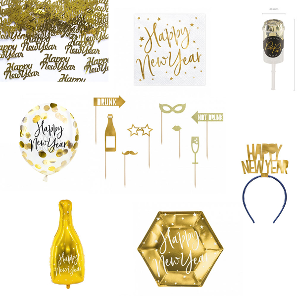 Picture of New year's eve decoration set