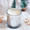 Picture of Scented soy candle in silver glass - Whiskey caramel