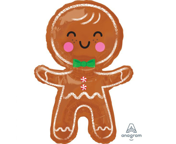 Picture of Balloon foil - Happy Gingerbread man