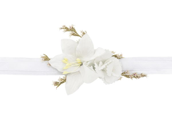Picture of Flower wrist corsage - White