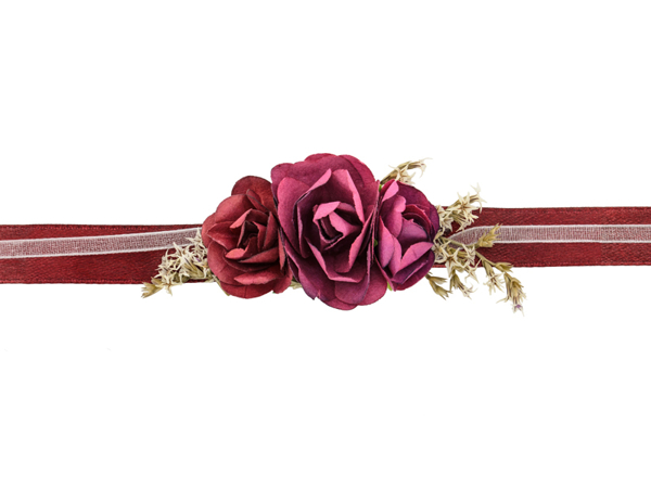 Picture of Flower wrist corsage - Deep red