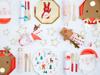 Χάρτινα πιάτα γλυκού - Άγιος Βασίλης