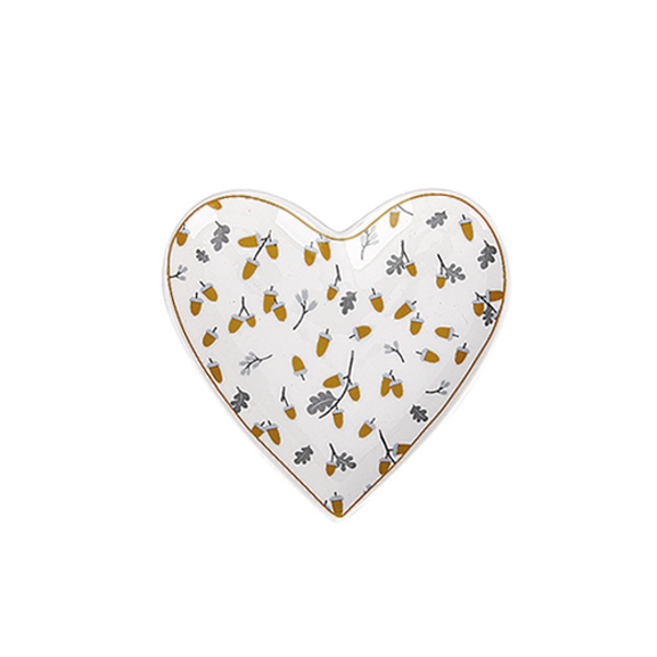 Picture of Μini Ceramic Heart Tray - Acorns