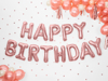 Picture of Foil Balloons Kit HAPPY BIRTHDAY rose gold