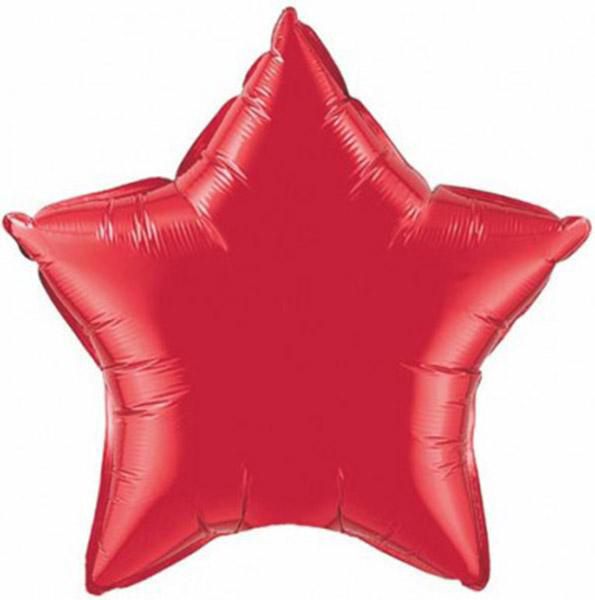 Picture of Foil balloon  star - Ruby red (51cm)