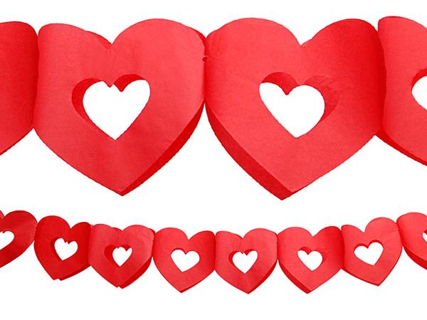 Γιρλάντα -   Χάρτινες Καρδιές