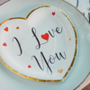 Picture of Heart shaped plates - I love you