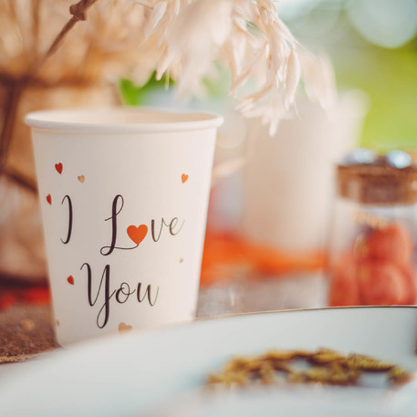 Picture of Paper cups- I love you