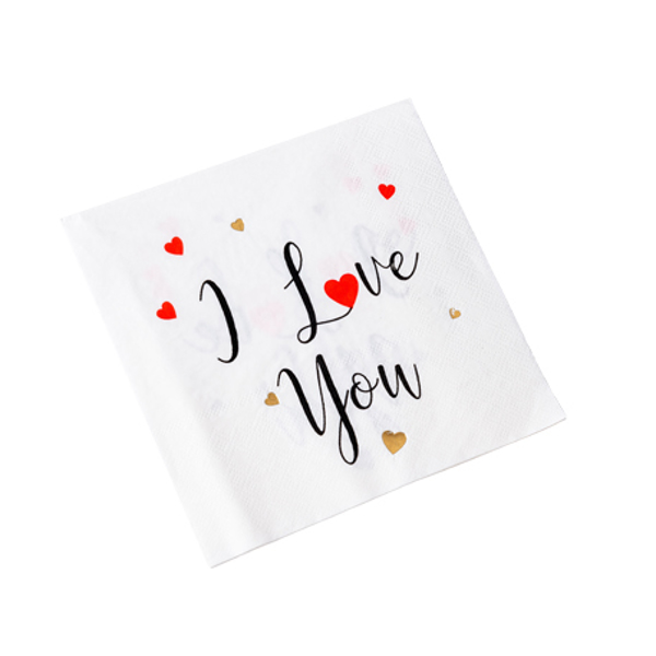 Picture of Napkins - I love you