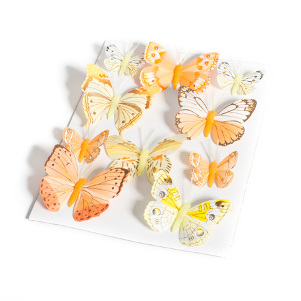 Picture of Decorative butterflies - Yellow and orange