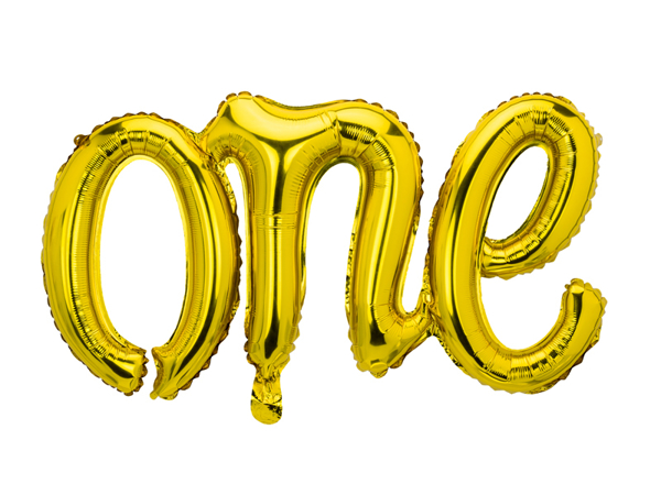 Picture of Foil balloon ONE gold