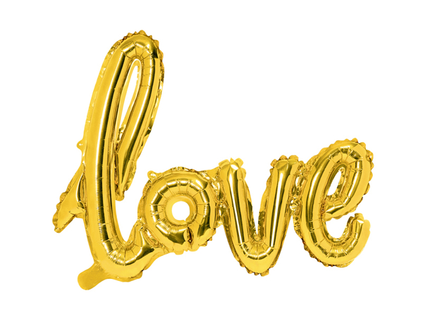 Μπαλόνι LOVE χρυσό
