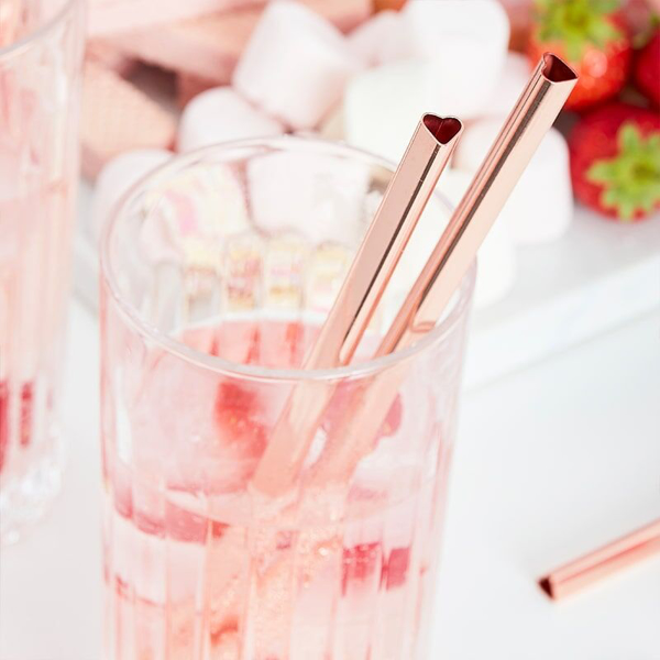 Picture of Heart shaped metal straws  (5pcs)