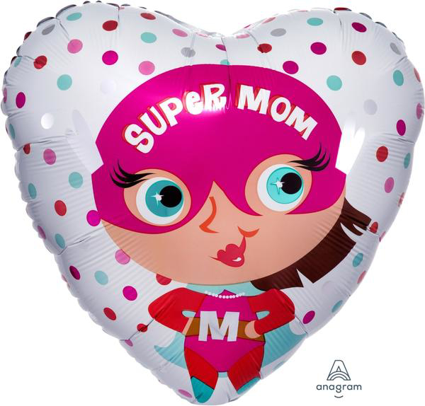 Picture of Heart Balloon - Super mom