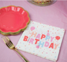 Picture of Paper Napkins - Happy Birthday pink
