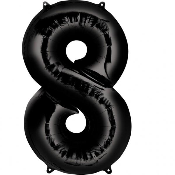 Μπαλόνι Αριθμός 8 μαύρο 86εκ.