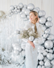 Picture of Round silver glossy balloon (60cm)