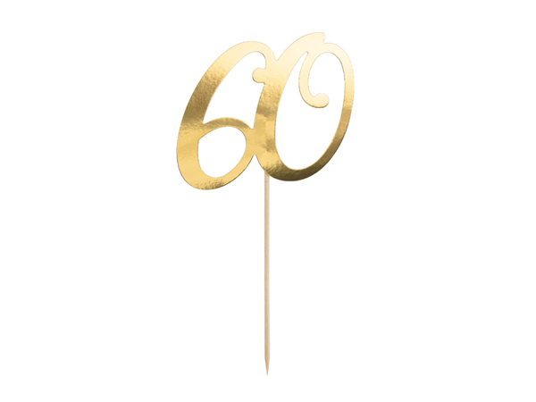 Picture of Cake topper in gold paper - 60