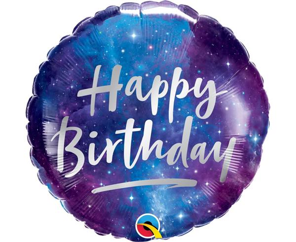 Μπαλόνι foil Happy birthday galaxy
